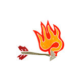 retro-cartoon-flaming-arrow-37582673